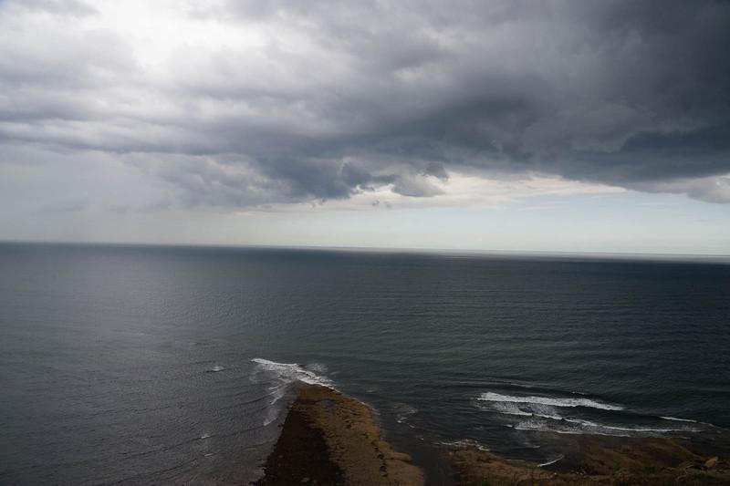 Dark skies over the North Sea