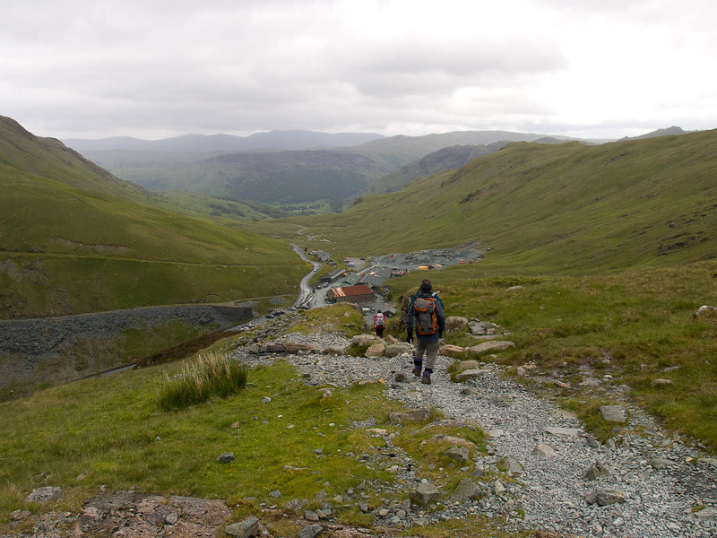 Above the Honister Slate Mine