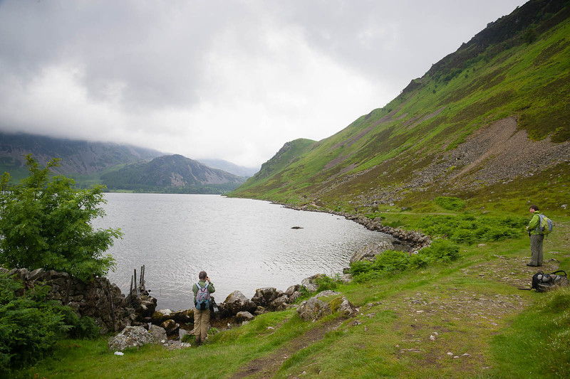 At the edge of Ennerdale Water