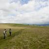 Across open fields