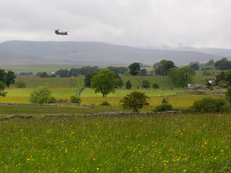 Chopper in the countryside