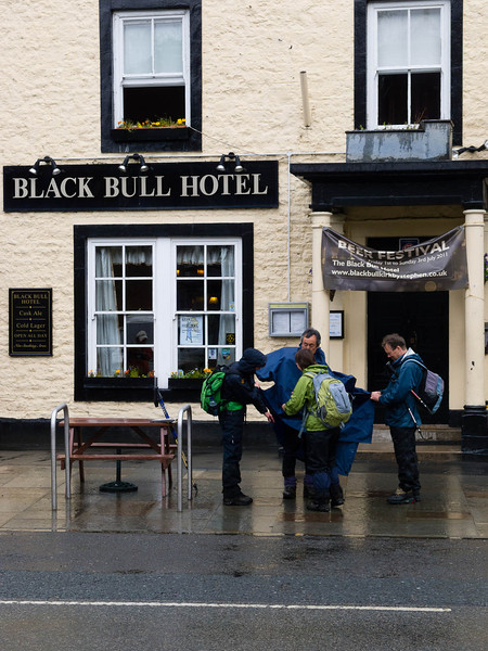 In front of the Black Bull