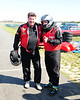 Bruce Stewart (Racing World Magazine) and Brandon Heer (WSNJ-AM) before the race.<br /> <br /> ©Sam Feinstein