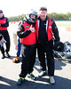 Brandon Heer (WSNJ-AM) and Bruse Stewart (Racing World Magazine) before the race.<br /> <br /> ©Sam Feinstein