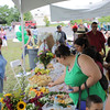 There were plenty of free healthy food samples at the Greater Hudson Valley Family Health Center in Newburgh, NY as National Health Center Week was celebrated with a community fair on Saturday, August 6, 2011. Hudson Valley Press/CHUCK STEWART, JR.