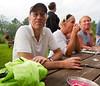 Richard at the picnic table