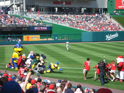 It was also Screech's birthday, and many of his mascot friends came to wish him well and play tug-of-war