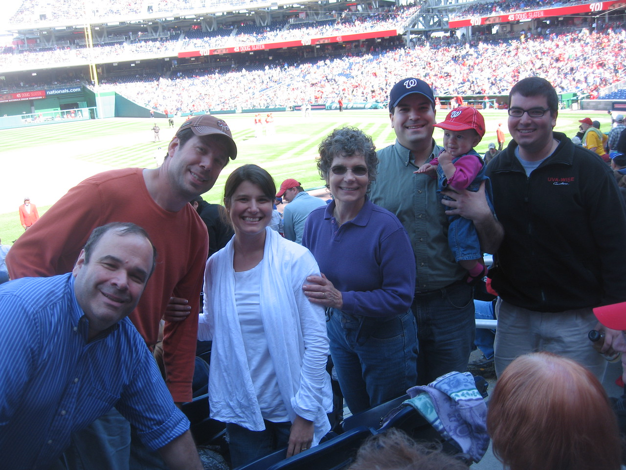 Craig (green shirt) and family