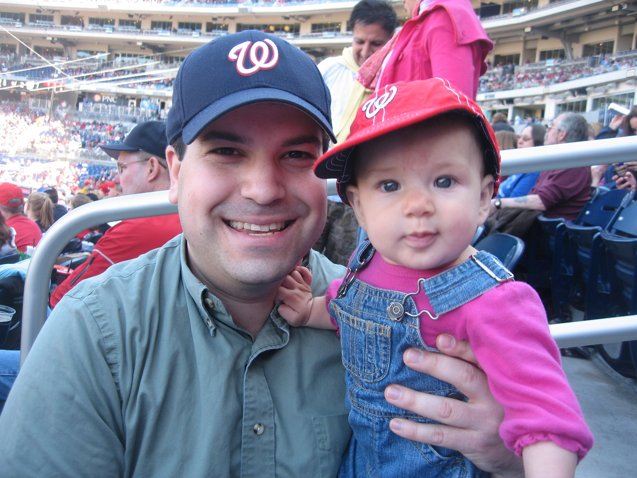 Craig and niece Shai, at her first Nats game!