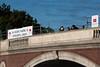Race officials on Weeks bridge