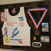 A shadow box Kris had made for Dave of his 3rd place finish in Masters Class for his age group during the 1996 International Masters Championships.