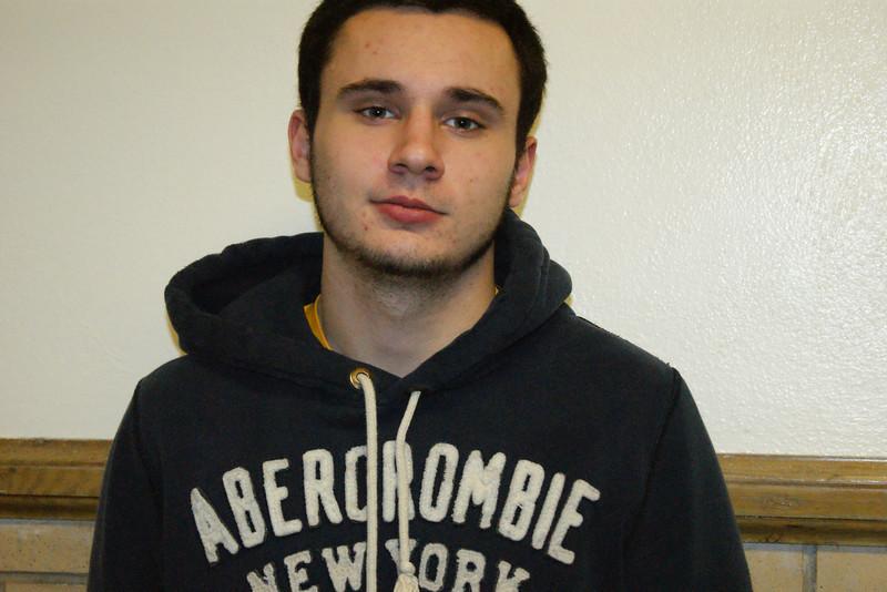Matt Carver, senior student of the month at Auburn Career Center.
