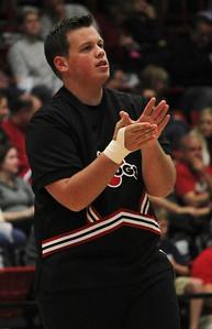 Cheerleader and school mascot, Ricky Hames