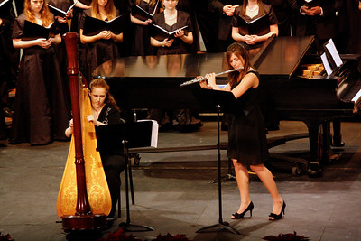 Hannah Blalock-harp, Marritt Huff-flute playing a Sussex Carol/A Merry Christmas arr. by Kathryn Cater/Sandy Norman