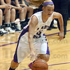 Tribune-Star/Jim Avelis<br /> Coming in: Brielle Drelick drives to the hoop in first half action at Clay City Thursday night.