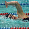 Tribune-Star/Joseph C. Garza<br /> Terre Haute South's Grace Padget competes in the final of the girls 200-yard freestyle race Thursday at Terre Haute North for the Wabash Valley Classic.