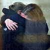 Tribune-Star/Joseph C. Garza<br /> After the sentence: Lindsay Pinegar, right, is hugged after her sentence was handed down in Vigo Superior Court 1 Thursday in the Vigo County Courthouse.