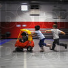 Tribune-Star/Jim Avelis<br /> Free time: Children in the Ryves Youth Cneter preschool program play in the upstairs gym Friday afternoon. An $80,000 donation from Walmart will help fund ongoing programs at the northside facility.
