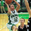 Drive: West Vigo's #12, Jordan Houser drives the ball and scores during game action against Northview Friday evening.