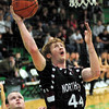 Score: Northview's #44, Jacob Ninesling drives and scores during first half action against West Vigo.