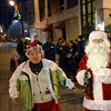 Santa arrival: Santa and Mrs. Claus arrive at 7th and Wabash Friday evening.