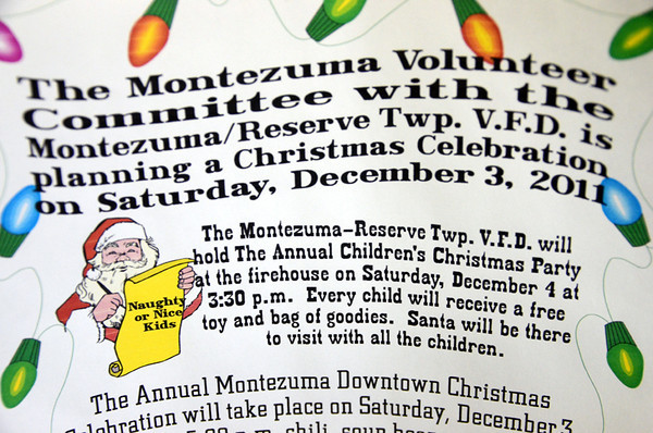 Party time: Notice of the Montezuma Volunteer Christmas Party.