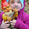 amily: Eva McClain frequently moves her mom's gnomes around the flower beds in front of their home.
