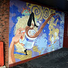 Expressive: Artwork adorns the exterior wall next to the drive-thru at Java Haute.