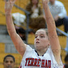 Tribune-Star/Jim Avelis<br /> Offense: Mikayla Metheny looks to score for Terre Haute South.