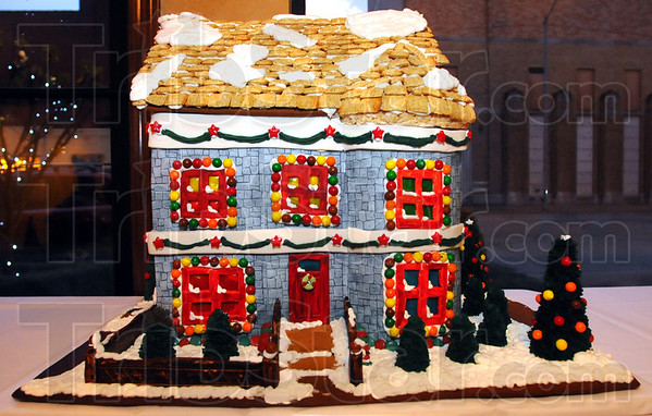 Tribune-Star/Jim Avelis<br /> Sweet dwelling: Pete Wilson of the Coffee Grounds created this entry in the gingerbread house contest.