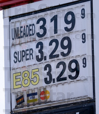 Expensive: E85 ethanol is priced the same as premium gasoline at a local station on US 41 south Wednesday afternoon.