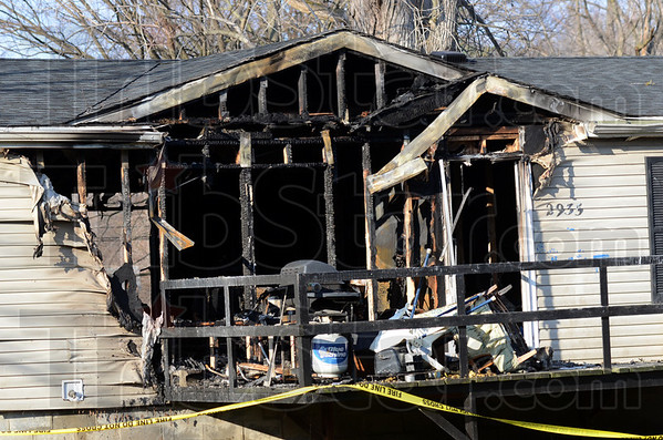 Destroyed: Aftermath of the Tuesday afternoon fire at 2935 west Old US 40 in Toad Hop.