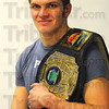 Tribune-Star/Jim Avelis<br /> Champion: Zach Edington with his MMA Champion's belt.