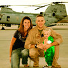 Photo courtesy of Libby Hornacky<br /> U.S. Marine Joseph L. Hornacky with wife, Libby, and son at Camp Pendleton, Ca.