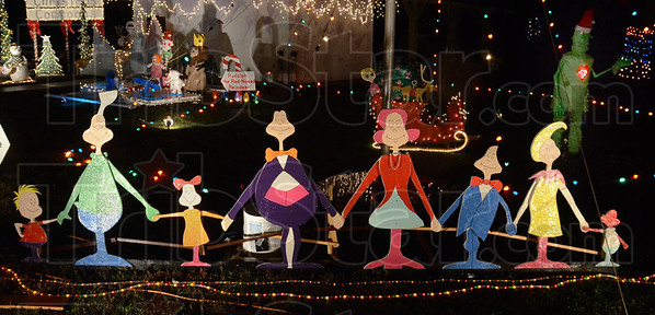 Tribune-Star/Jim Avelis<br /> Whos like Christmas: Boy Scout Troop 200 decorated in a Classic Cartoon Christmas theme this year, with the Who family headlining the display.