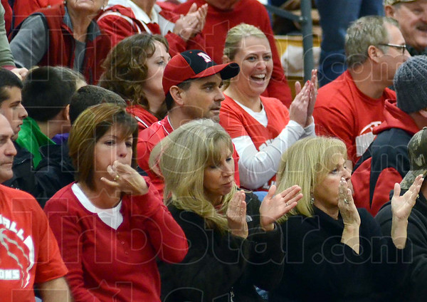 Supporters: Marshall supporters whistle and clap for their team during Tuesday's Pizza Hut Classic game.
