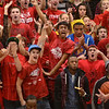 Tribune-Star/Jim Avelis<br /> Yeah: The Terre Haute South student section erupts as the Braves took the lead during second half action in their Pizza Hut Classic game.