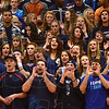 Tribune-Star/Jim Avelis<br /> Yeah: Terre Haute North students cheer their team as they edge by crosstown rival South Tuesday eveing in the opening round of the Pizza Hut Classic.