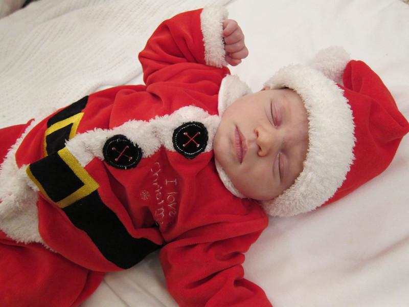 Sprawled Santa Baby