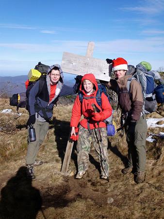 Jacob, Hunter, and Matt, on Roan Mountain