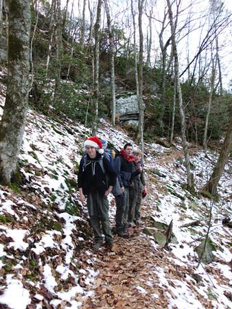 Hiking off Roan Mountain
