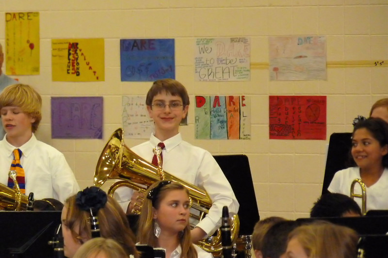 Anthony's first band concert