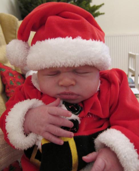 Squished Santa baby