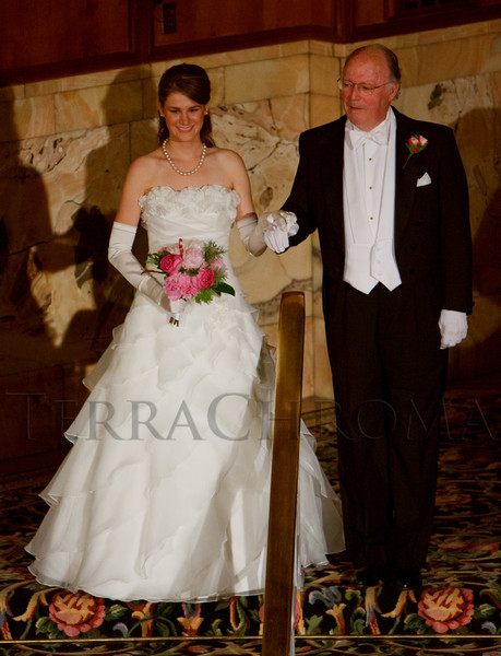 Karina Stapleton, presented by Patrick Coulson.  The 56th Annual Denver Debutante Ball at the Brown Palace Hotel & Spa in Denver, Colorado, on Thursday, Dec. 22, 2011.<br /> Photo Steve Peterson
