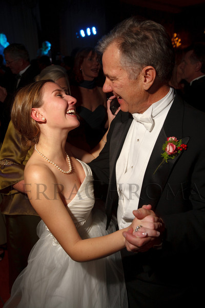Elsa Woolley dances with her father, Charlie.  The 56th Annual Denver Debutante Ball rehearsal at the Brown Palace Hotel & Spa in Denver, Colorado, on Thursday, Dec. 22, 2011.<br /> Photo Steve Peterson