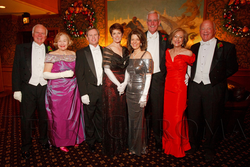 Dennis and Betty Lynn Jackson, Kevin and Leanne Duncan, Marilyn and Pete Coors, and Dawn and Willis Wood.  The receiving line:  The 56th Annual Denver Debutante Ball at the Brown Palace Hotel & Spa in Denver, Colorado, on Thursday, Dec. 22, 2011.<br /> Photo Steve Peterson