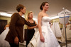Josi Larson and Eileen Morton help Lizzie Larson with her gown.  The 56th Annual Denver Debutante Ball at the Brown Palace Hotel & Spa in Denver, Colorado, on Thursday, Dec. 22, 2011.<br /> Photo Steve Peterson