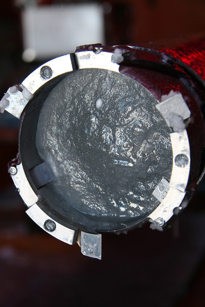 Drill head for drilling deep ice cores.<br /> <br /> Photo: Olivia Maselli