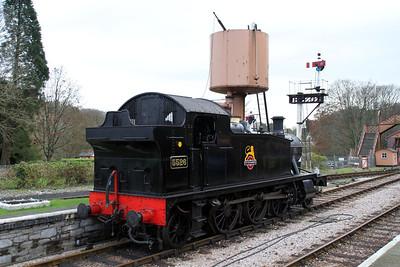 Steam 5526 seen at Buckfastleigh Station on the South Devon Railway.