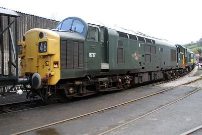 D6737 (37037) seen at Buckfastleigh on the South Devon Railway.